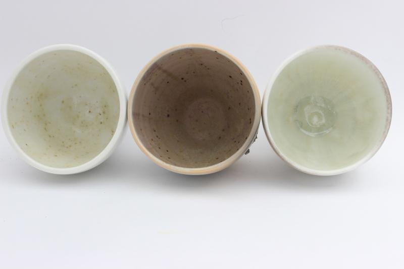 Seladon Ascheglasur unterschiedlich stark reduziert